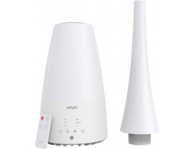 VAVA VA-AH012 Υγραντήρας δωματίου Ultrasonic Mist, 2 Ακροφύσια & Remote control, 3L, Λευκός