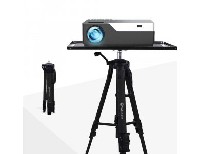 VANKYO PT20B Tripod / Aluminium Projector Stand, Adjustable 43-116cm, and carrying case