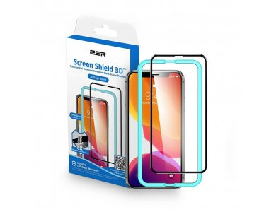 ESR iPhone 11 / XR Tempered Glass 3D Full-Coverage with Installation frame
