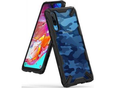 Ringke Fusion X Galaxy A70 Military Grade Θήκη Heavy Duty, Camo Black