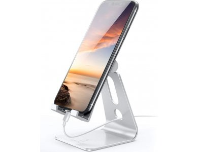 "Lamicall A1 Βάση/Stand Smartphone Ρυθμιζόμενη 270° για συσκευές 4""-13"", Ασημί"