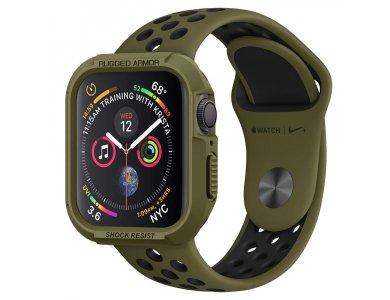 Spigen Apple Watch 4/5 40mm Rugged Armor Θήκη, Olive Green - 061CS26014