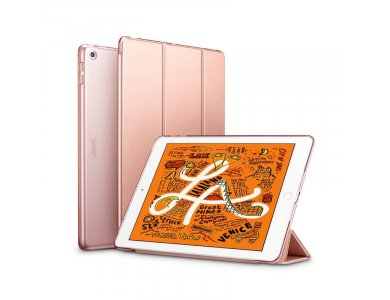"""ESR Yippee iPad Mini 5th Gen 2019 7.9"""" Trifold Case with Auto Sleep/Wake, Stand, Hard Back Cover, Rose Gold"""