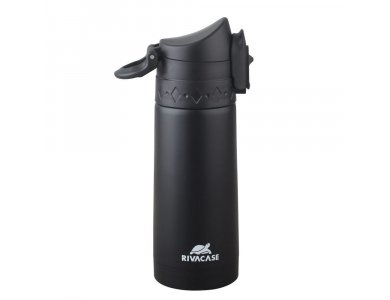 RivaCase 90351BK Vacuum Flask 350ml with Safety Lock & Carabine