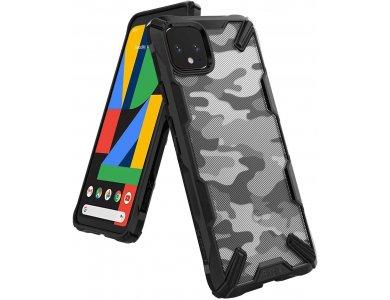 Ringke Fusion X Google Pixel 4 Tough Case, Camo Black