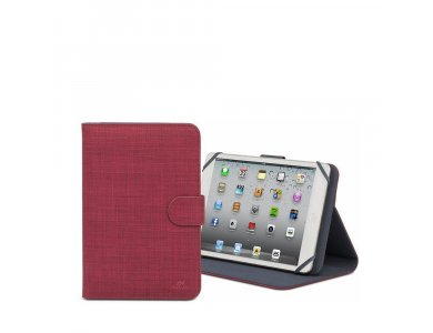 """Rivacase 3317 Flip Cover/Stand Case Tablet for 10.1"""" Universal, Red"""