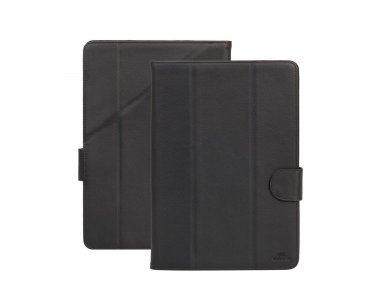 """Rivacase Malpensa 3137 Trifold/Kick Stand Case Tablet up to 10.1"""" Universal, Black"""