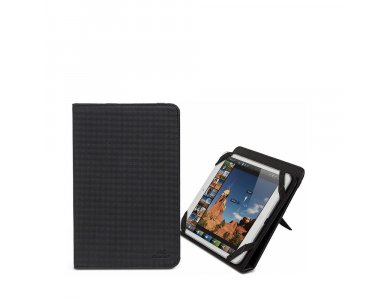 """Rivacase Gatwick 3214 Flip Cover/Kick Stand Case Tablet up to 8"""" Universal, Black"""