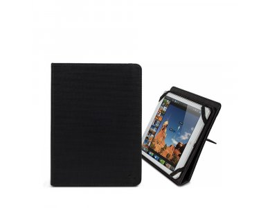 """Rivacase Gatwick 3217 Flip Cover/Kick Stand Case for tablet up to 10.1"""" Universal, Black"""
