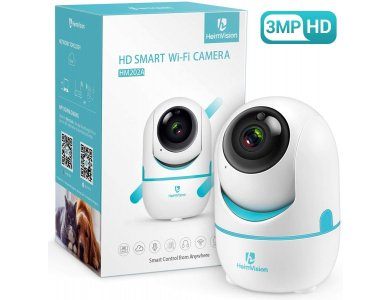 Heimvision HM202A IP Camera 1536p, 2K, 3MP, 350°, Night Vision, 2-Way Audio, WiFi and Motion Detection