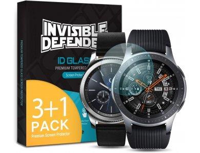 Ringke Invisible Defender 4x ID Glass για Galaxy Watch 46mm / Gear S3 (Σετ των 4) - IGSG0011-RPKG