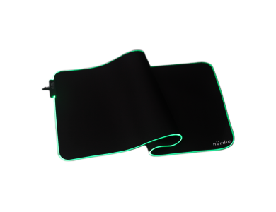 Nordic XXL Gaming Mouse Pad (120x60x0,4cm) with RGB LED, Black - GAME-N1037