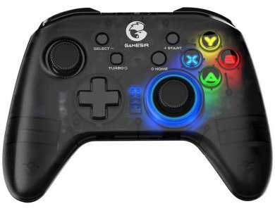Gamesir T4 Pro wireless gamepad RGB 2.4 GHz/Bluetooth with Dualshock and Smartphone blracket for iOS / Android / Nintendo Switch / Windows