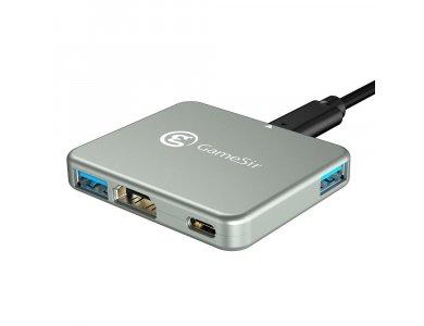 Gamesir GTV130 5-in-1 USB C Data Hub - HDMI/4K*1 + USB3.0*3 + 1*100W PD Charging, for Nintendo Switch / Android / Macbook / Laptop