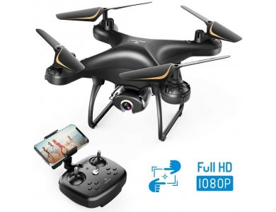 Snaptain SP650 Drone Full HD Camera 1080p, Altitude Hold & Headless Mode, Black