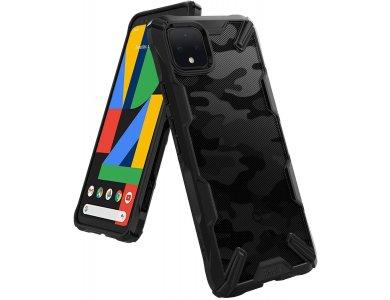 Ringke Fusion X Google Pixel 4 XL Tough Case, Camo Black