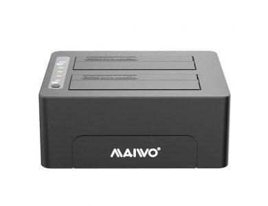 Maiwo K3082C SATA HDD/SSD Docking Station, USB-C 3.1 GEN2 10Gbps, Dual Bay with Clone Duplicator