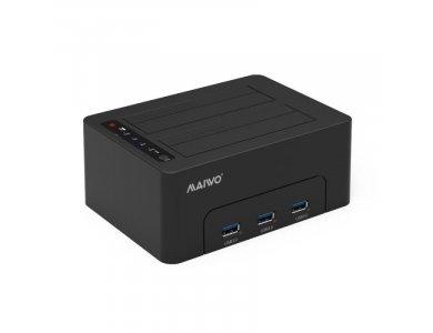 Maiwo K3082H SATA HDD/SSD Docking Station, USB-C 3.1 GEN1 5Gbps, Dual  Bay with Clone Duplicator, 3*USB 3.1 Θύρες