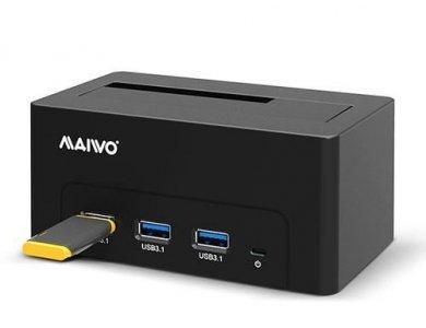 Maiwo K308H SATA HDD/SSD Docking Station, USB-C 3.1 GEN1 5Gbps, 3*USB 3.1 Θύρες