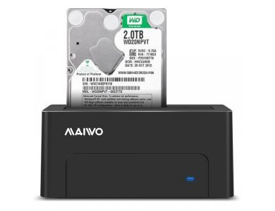 Maiwo K308C SATA HDD/SSD Docking Station, USB-C 3.1 GEN2 10Gbps