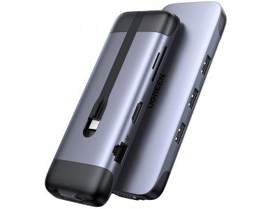 Ugreen 9-in-1 USB C Data Hub - HDMI/4K*1 + USB3.0*3 + Gigabit LAN + SD/TF Card Reader + VGA + 1*100W PD Charging - 70409