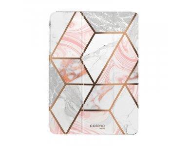 "i-Blason Cosmo Lite iPad 7th Gen 2019 10.2"" Trifold Θήκη με Auto Sleep/Wake, Stand, Hard Back Cover, Marble Pink"