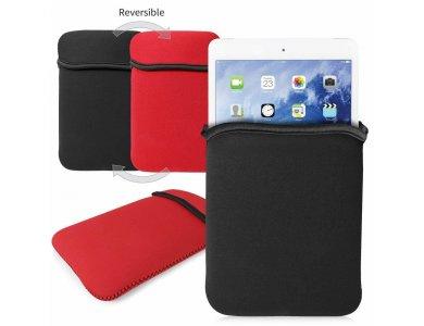 Orzly Neoprene Sleeve/Θήκη iPad Case 1 / 2 Waterproof, Reversible, Double-faced, Red/ Black