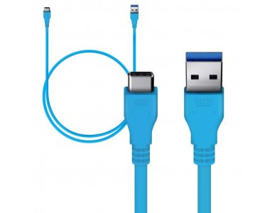 Orzly cable USB-C σε USB 3.0 Reinforced, 3ft. Blue