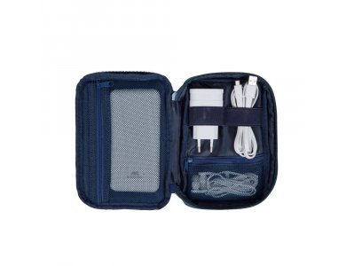 Rivacase Biscayne 5631 Organizer/ Travel Case for Gadget and Electronics, Blue