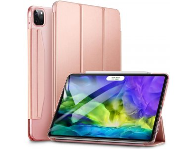"""ESR Yippee iPad Pro 2020 / 2018 11"""" Trifold with Magnetic Closure,  Auto Sleep/Wake, Stand, Hard Back Cover, Rose Gold"""