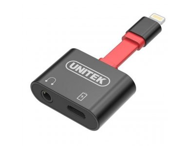 Unitek Lightning to 3.5mm + Lightning Charging Hub Adapter / Splitter - M1103A