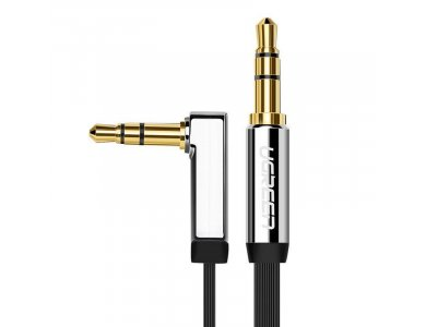 Ugreen AUX Cable 3ft. Flat, Stereo Angled (90°) 3.5mm - 10597
