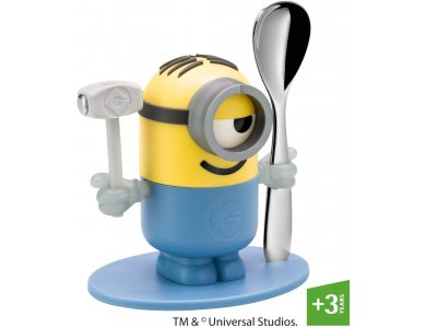 WMF Egg Cup Minions, with egg spoon