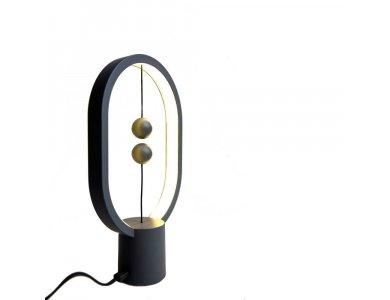 Allocacoc Heng Balance Plastic Lamp, Ellipse Mini, Magnetic Switch, Dark Grey - DH0098DG/HBLEMN