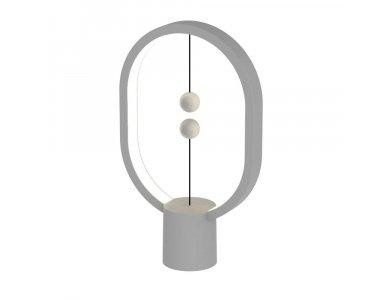 Allocacoc Heng Balance Plastic Lamp, Ellipse Mini, Magnetic Switch,  Light Grey - DH0098LG/HBLEMN