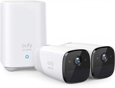 Anker eufyCam 2 ΚΙΤ 2 Ασύρματων Καμερών FullHD με Κέντρο, 1-Year Battery Life, Human detection, Night Vision, by Eufy - T88413D2
