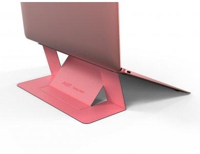 Allocacoc Moft Laptop Σταντ Αντιολισθητικό & Φορητό, Μαγνητικό Folding Slim Stand, Pink - DH0117PK/MOFTST