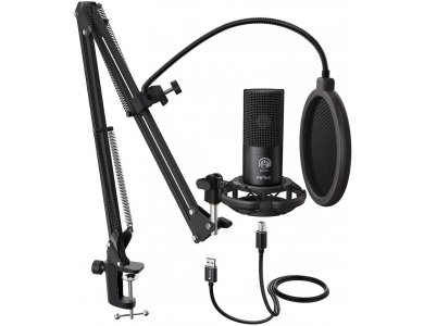 FIFINE T669 USB Microphone, KIT with Adjustable Stand, Volume Dial for Vocal Recording, Sreaming, Podcast