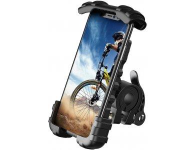 Lamicall BM02 Βάση Smartphone Ποδηλάτου, Ρυθμιζόμενη Shockproof, Μαύρη