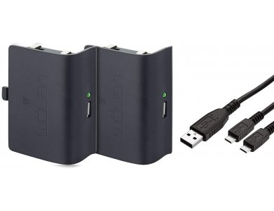 Venom Xbox One Rechargeable Battery Twin Pack, 2 battery pack, Black - MS2850