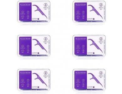 Xiaomi Soocas Dental Floss Purple Amethyst, Οδοντικό Νήμα, Σετ των 6 Συσκευασιών * 50τμχ
