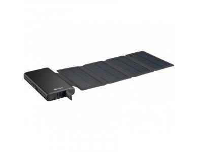 Sandberg Solar 4-Panel 25000 Power Bank 25.000mAh - 420-56, Black