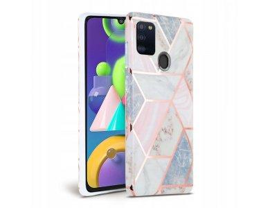 Tech-Protect Marble Galaxy A21s Θήκη, Pink