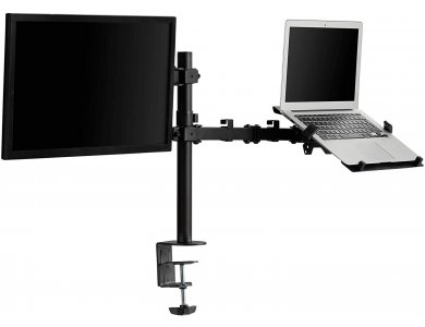 """VonHaus Dual Arm Desk Mount with Clamp for Monitor and Laptop 13""""-32"""", up to 12kg - 3000114"""