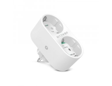 BlitzWolf BW-SHP7 Έξυπνη Πρίζα Ασφαλείας Wi-FI, 2-outlet, APP Control, συμβατή με Alexa, Google Home κ.α., (Δεν χρειάζεται Hub)