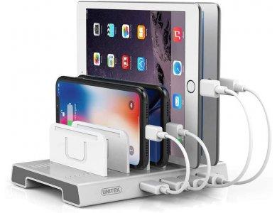 Unitek Smart Charging Station 36W 4-Port USB Charging Hub, White - Y-2187A