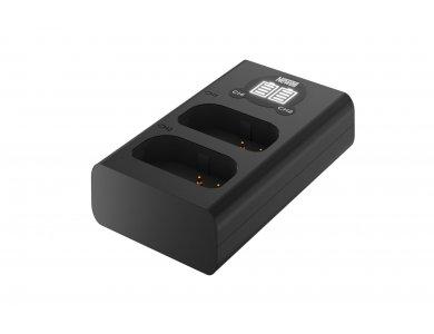 Newell Φορτιστής μπαταριών Fuji NP-W235 Διπλός Με ένδειξη φόρτισης και εισόδους Type-C & Micro USB - NL2320