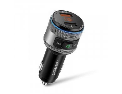 Ugreen FM Transmitter Bluetooth Handsfree Αυτοκινήτου & Φορτιστής QC3.0 - 60283
