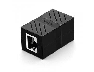 Ugreen Ethernet RJ45 Coupler, Extender, Black - 20390