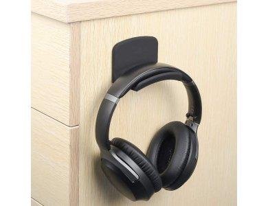 Avantree Neetto Headphone Hanger Holder, Wall Mount for Headset / Cords, 3M adhesive, Black - HS907